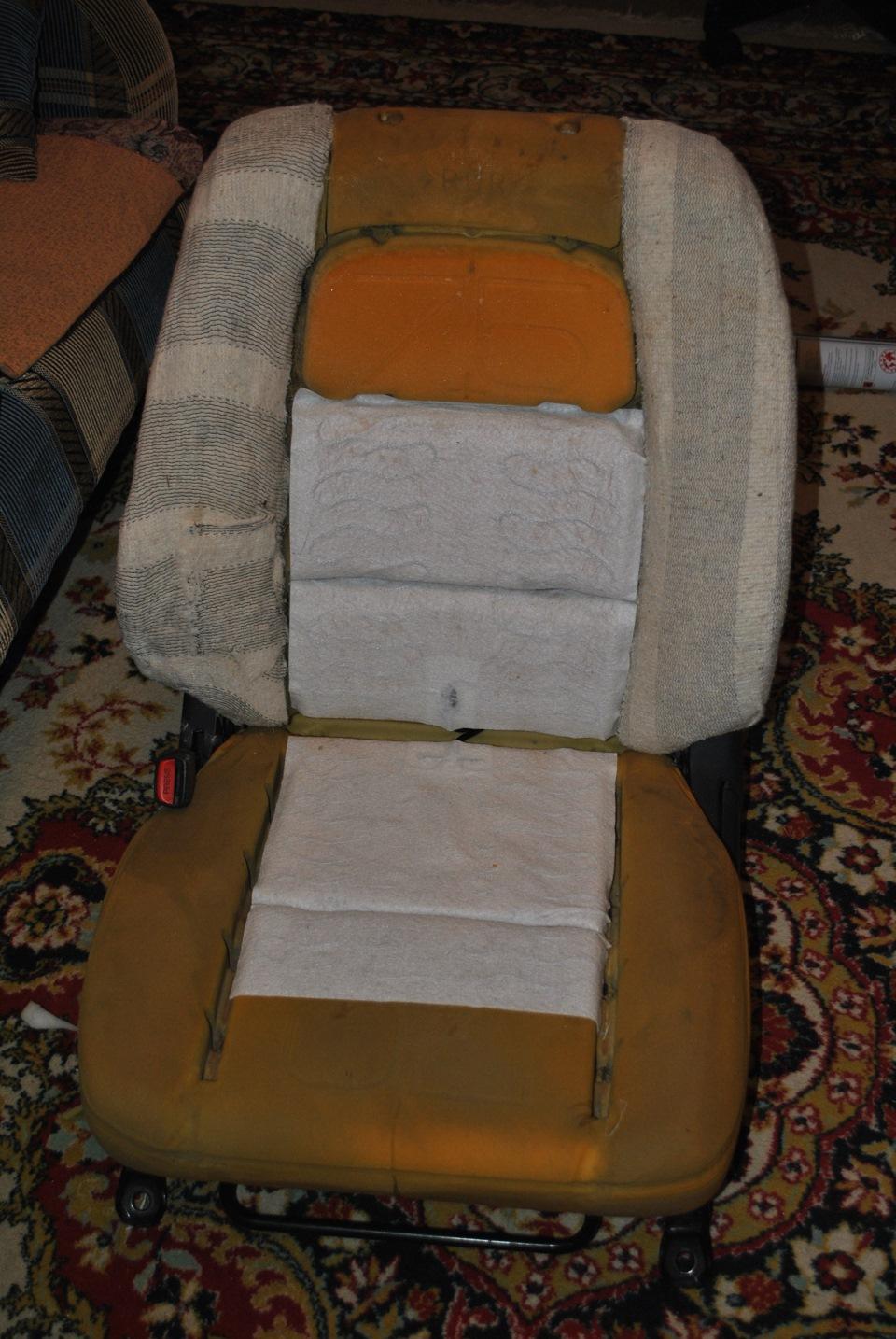 Ремонт продавленного сидения автомобиля своими руками