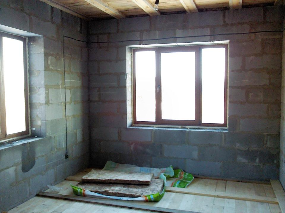 отделка дома внутри из газоблока