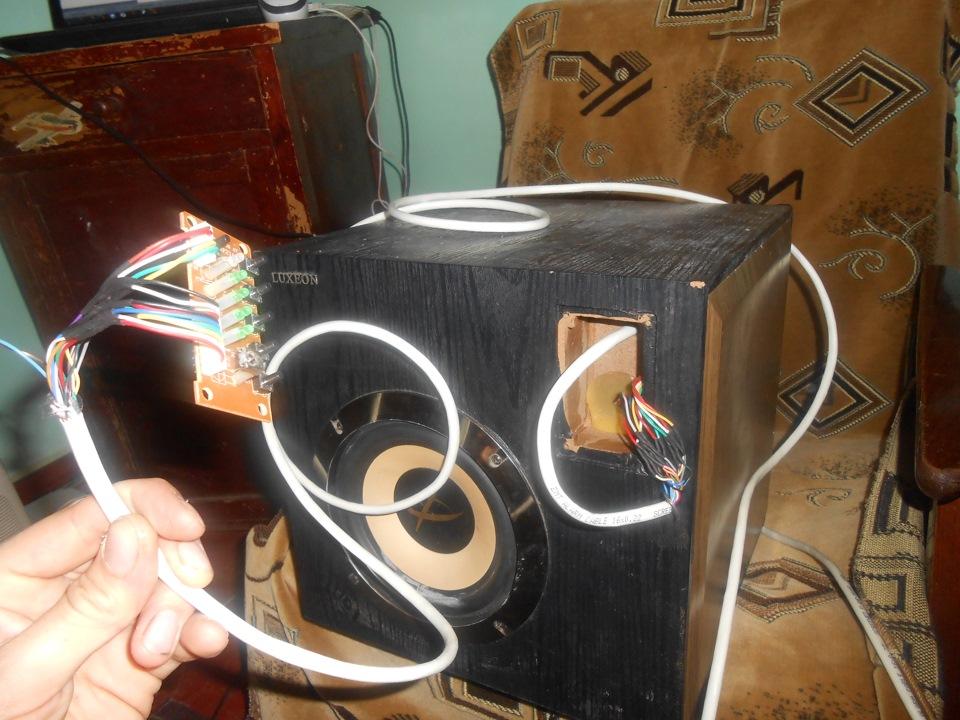 разборка и переделка компьютерного сабвуфера фото если