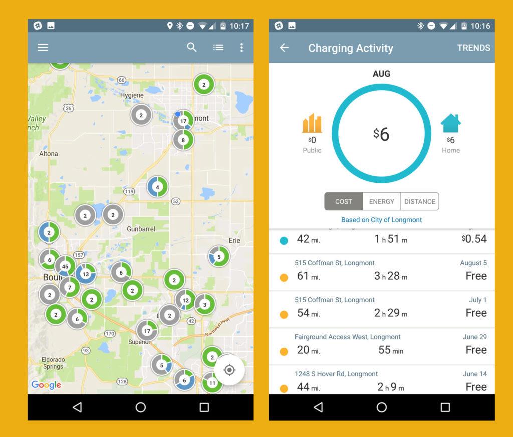 Мобильное приложение: Карта зарядки аккумулятора