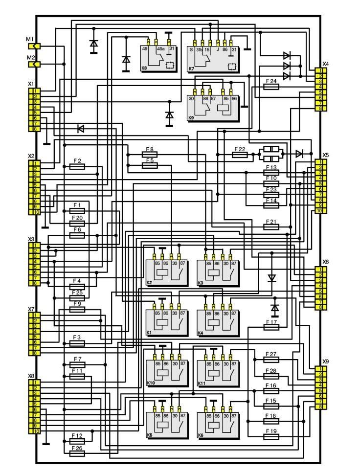 электрическая схема sync