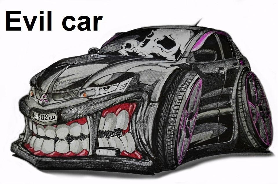 Рисунок прикольной машины