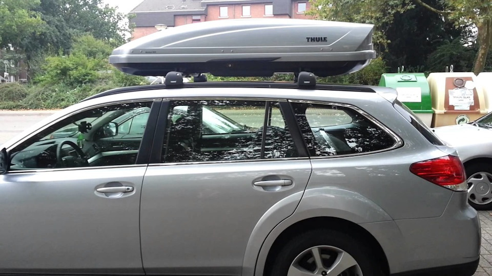 Багажник на крышу Subaru Outback (2015-) низкими рейлингами