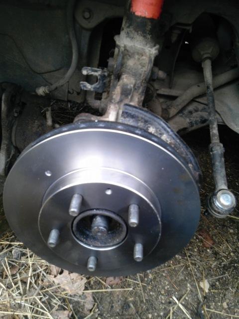 Замена тормозных дисков Mazda 626