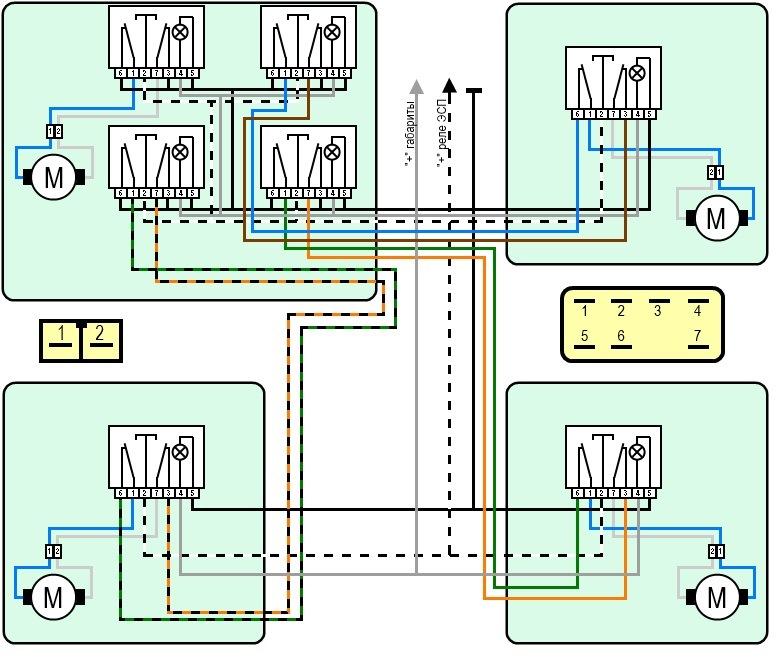 Схема подключения ЭСП ваз 2110