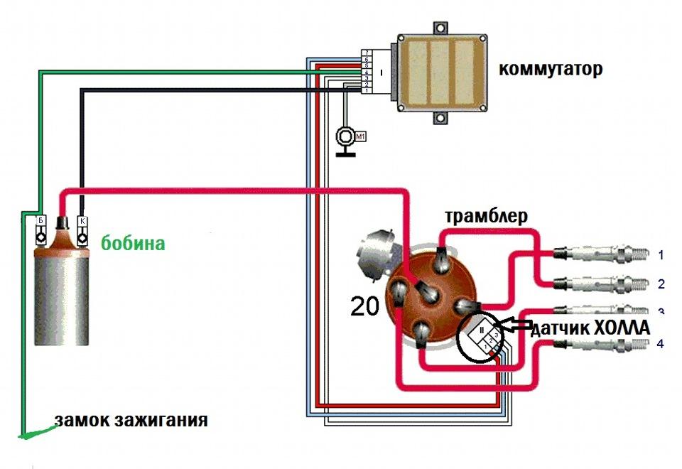 Схема подключения замка зажигания москвич фото 152
