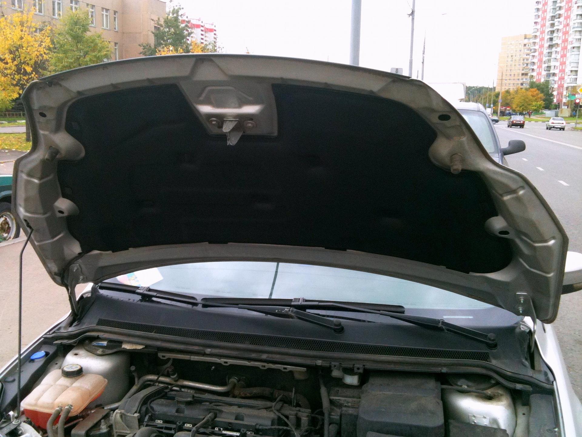 Как открыть капот на Форд Фокус 2