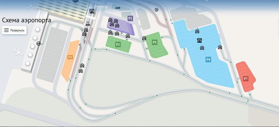 Схема стоянок в пулково