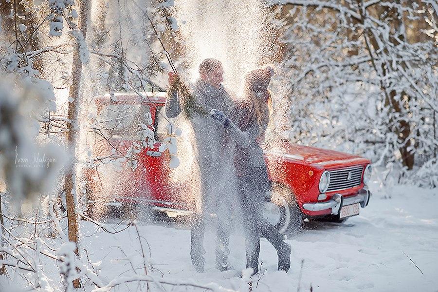 тебя идеи для зимних фотографий на машине теплыми грозовыми дождями