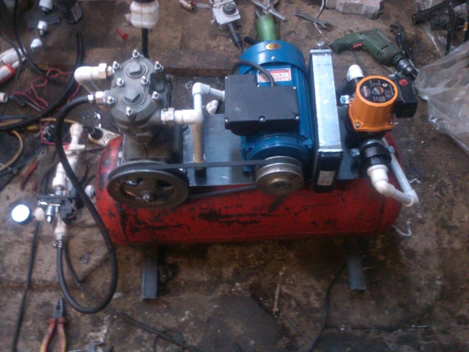 Самодельный компрессор из зил-130 - Подключение однофазного двигателя АИРЕ 80С2