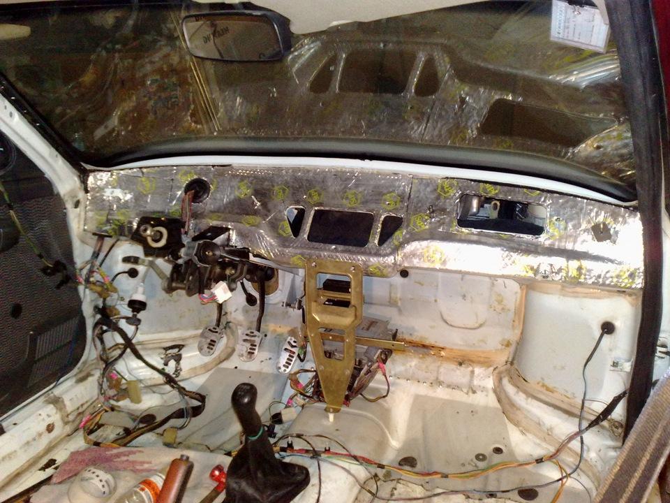 Фото №2 - шумоизоляция моторного отсека ВАЗ 2110