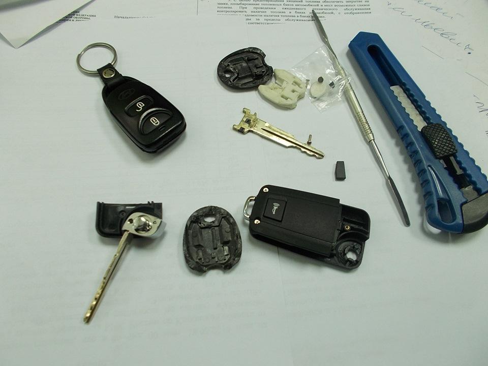чип ключа для hyundai tucson