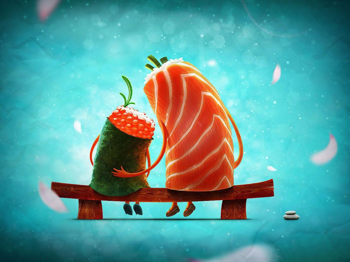 Картинки для, прикольную картинку суши