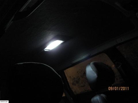 Пробовал вставить в плафон салона светодиодную лампочку, но света стало не на много больше.