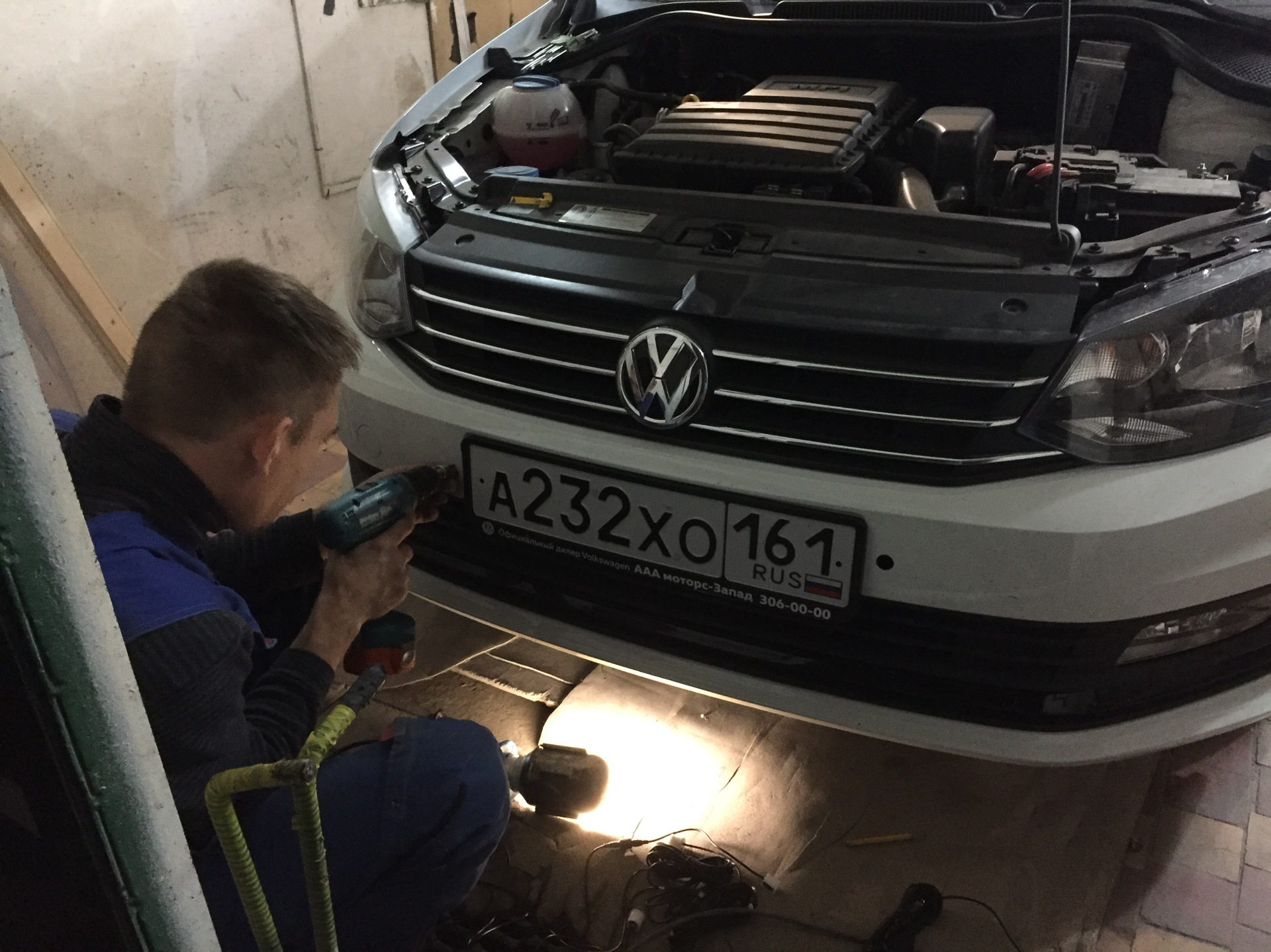 Установка парктроника на VW Polo Sedan бортжурнал. - drive2 34