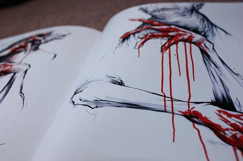 рисунки страшные картинки