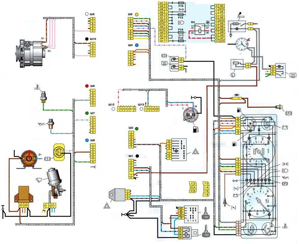 Схема подключения инжектора ваз 2107 фото 886