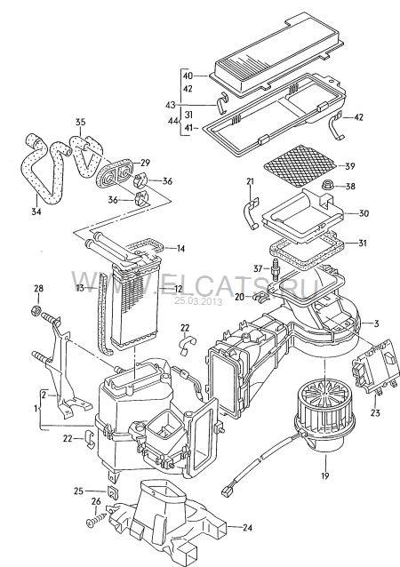 Сообщение от kss.  Re: есть ли в audi 80 b3 салонный фильтр? скоба для корпуса салонного фильтра.  893 819 449.
