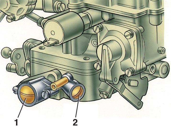 Схема карбюратора 412