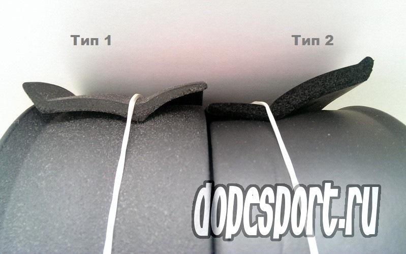 Сплиттер на бампер резиновый
