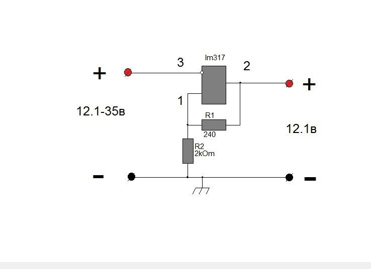 стабилизатор напряжения 14в схема
