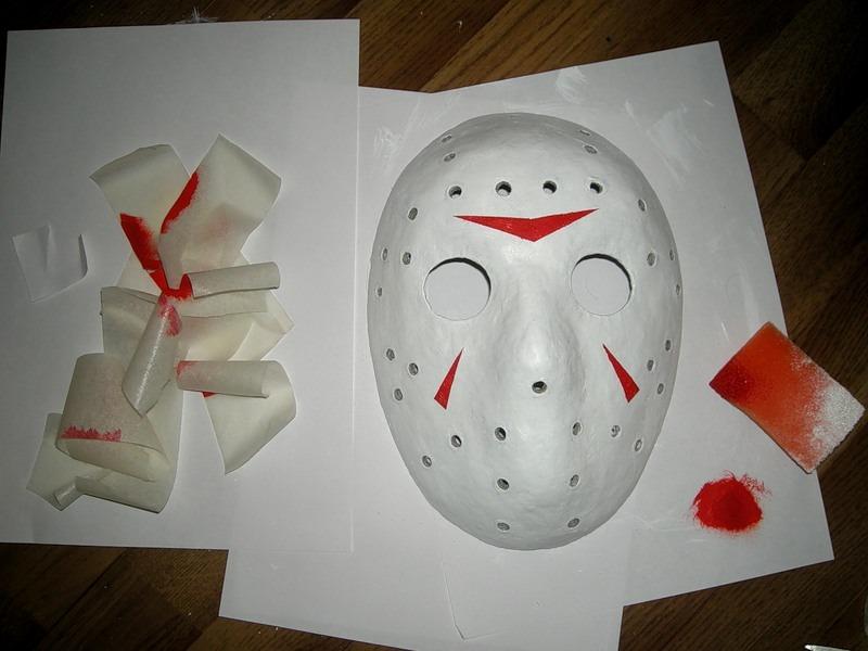 Страшные маски из бумаги