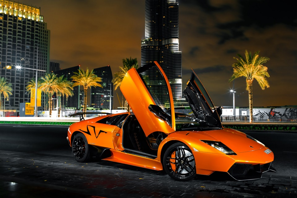 Arabic night with dyavolskim bull Lamborghini Murciélago