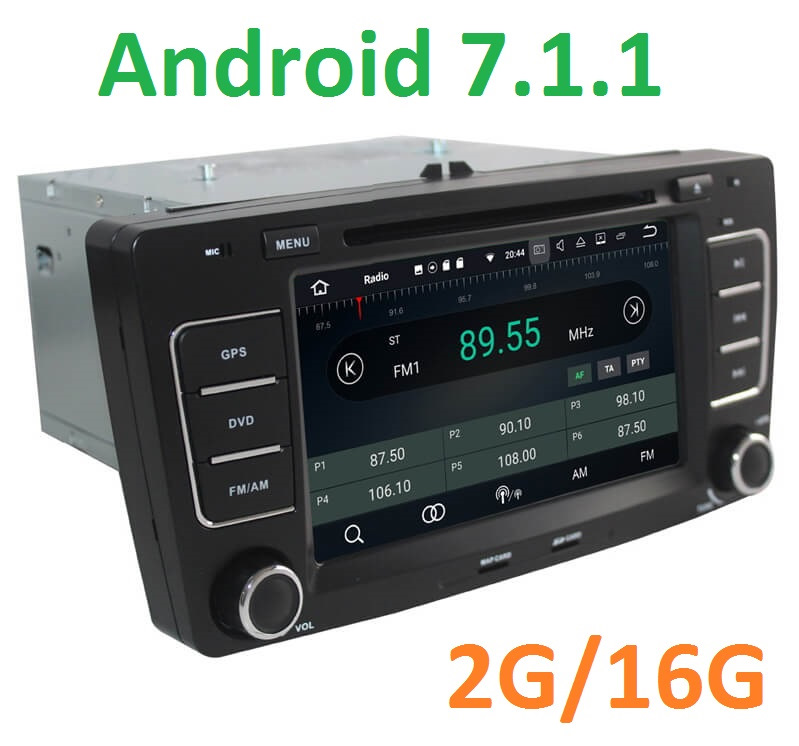 Android 7 radio cassette recorder in the standard place for