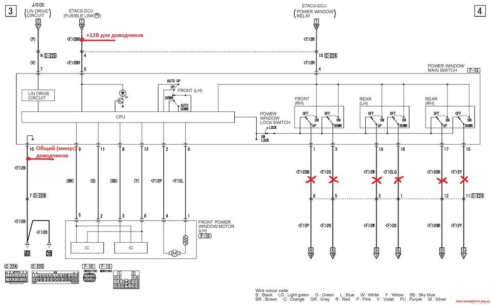 Схема подключения доводчиков