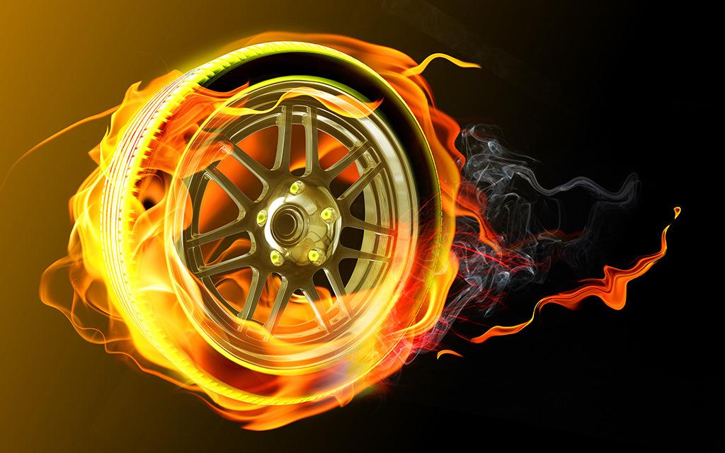 прекрасно картинки огненный колес коса