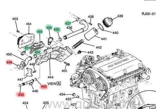 Двигатель шевроле авео 1.2 схема 104