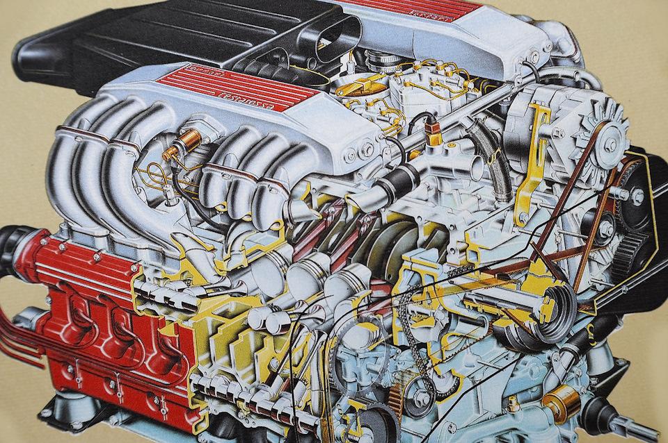 Двигатель V 12 Ferrary Testarossa