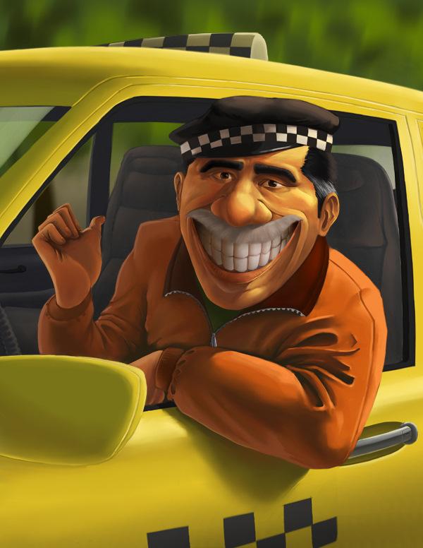Набор, смешные такси картинки