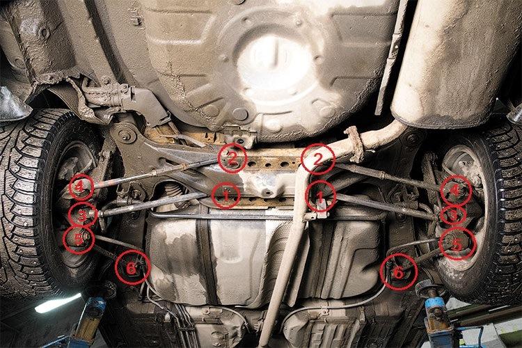 Задняя подвеска камри 40 схема
