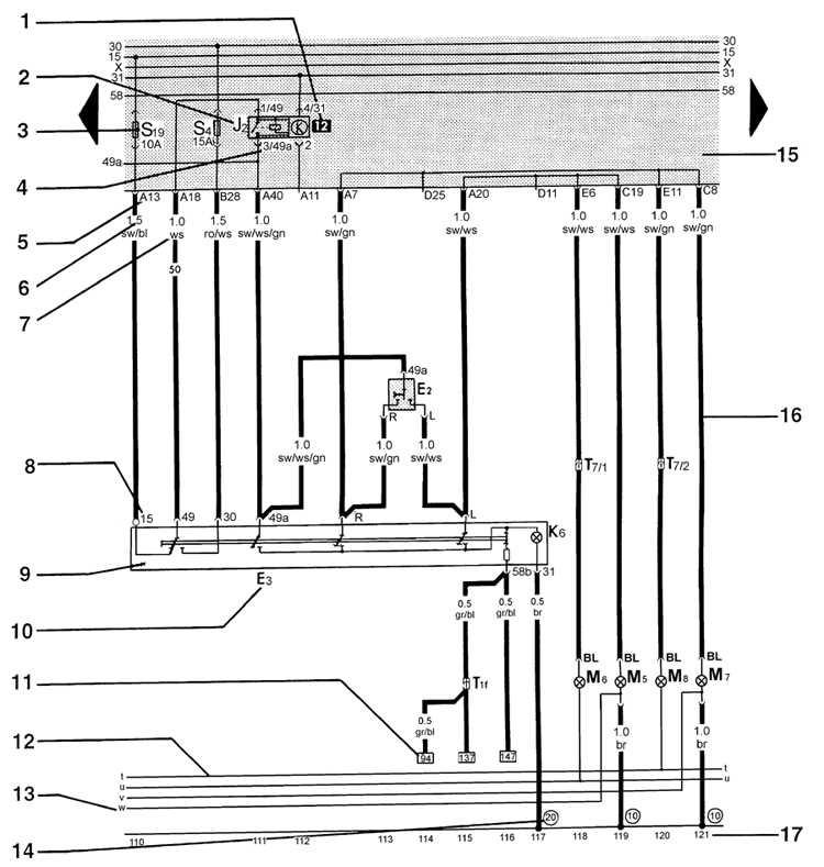 Символы на электросхемах