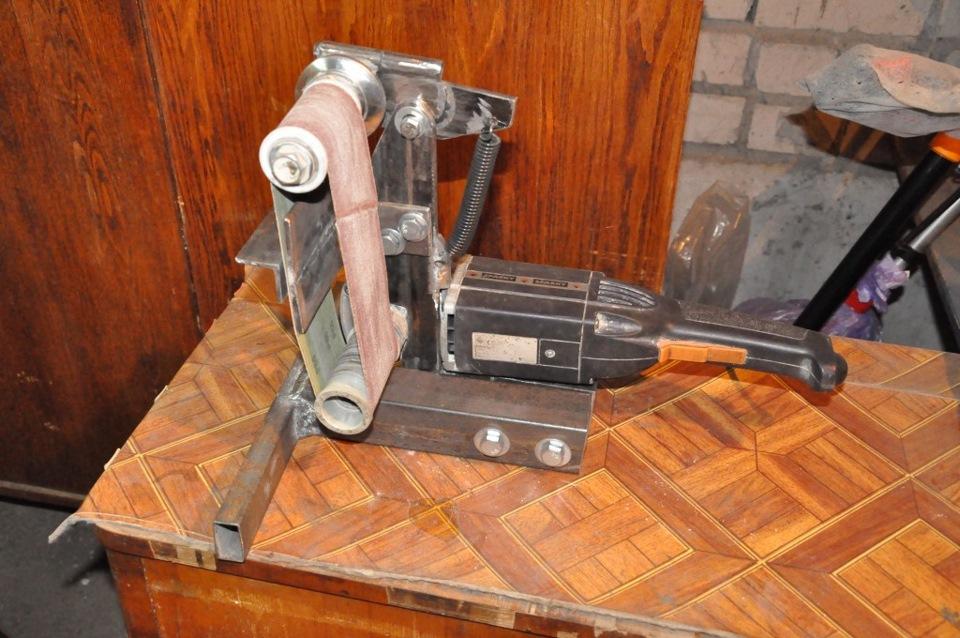 Шлифовальная машина из болгарки своими руками