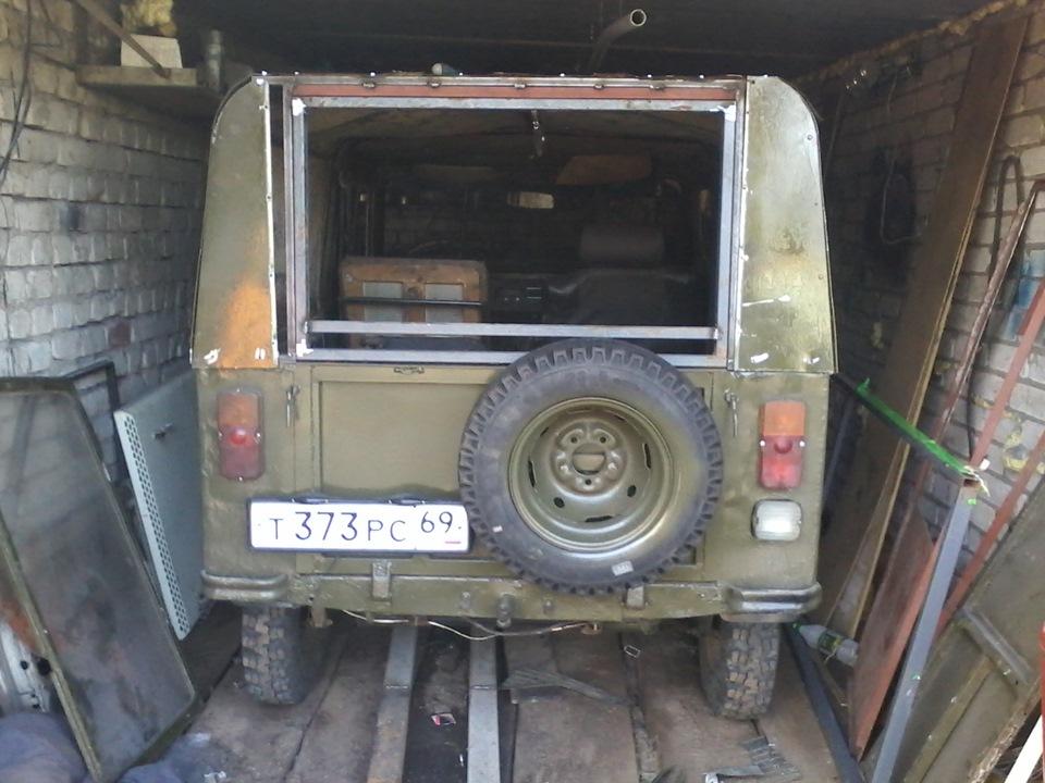 задняя дверь день 2 - бортжурнал ЛуАЗ 969 зеленый танк 1988 года на DRIVE2