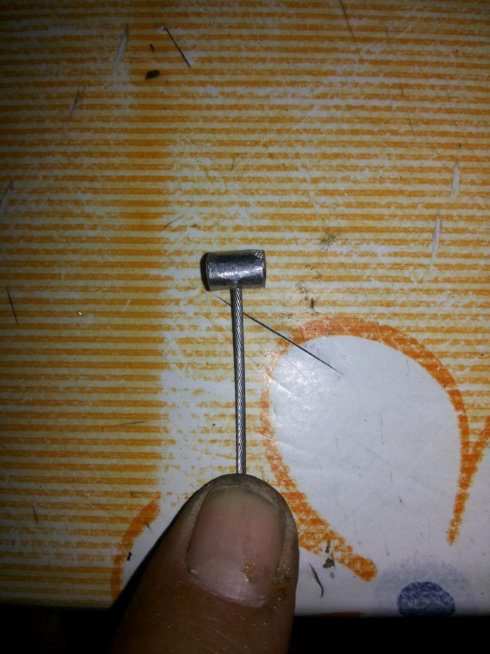 Как сделать бобышку на тросик своими руками