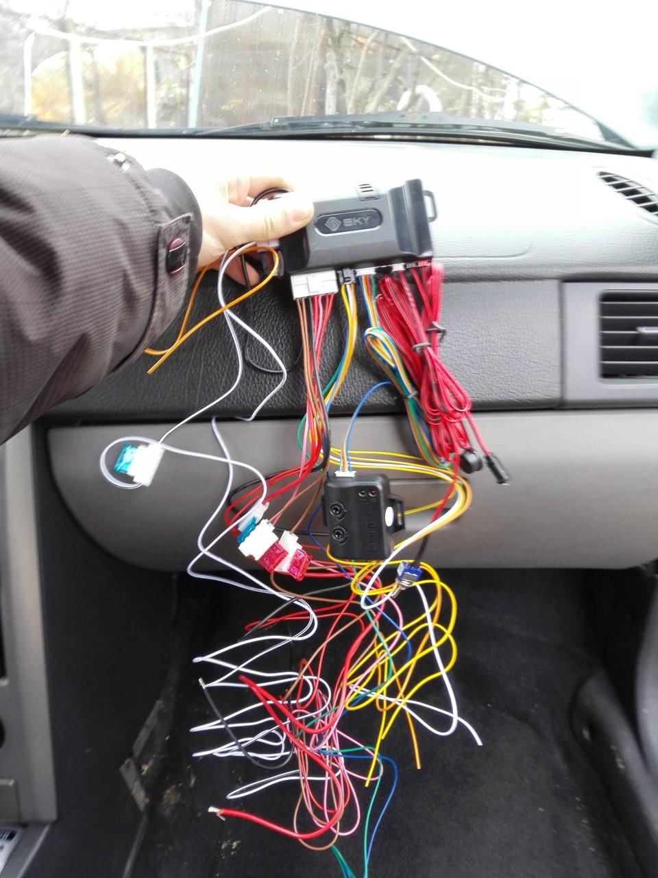 Установка автосигнализации sky m17 своими руками 18