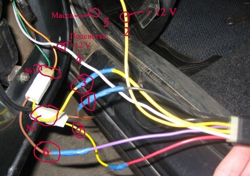 Фото №27 - проводка стеклоподъемников ВАЗ 2110