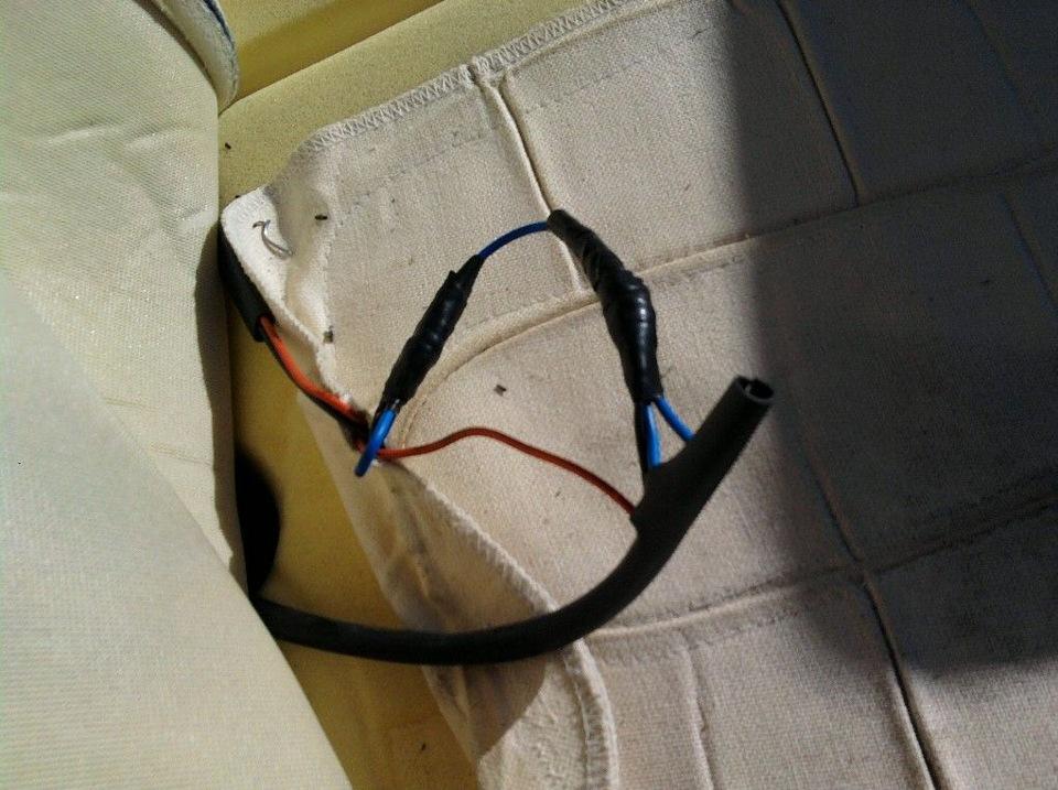 отремонтированный провод подогрева сидений.