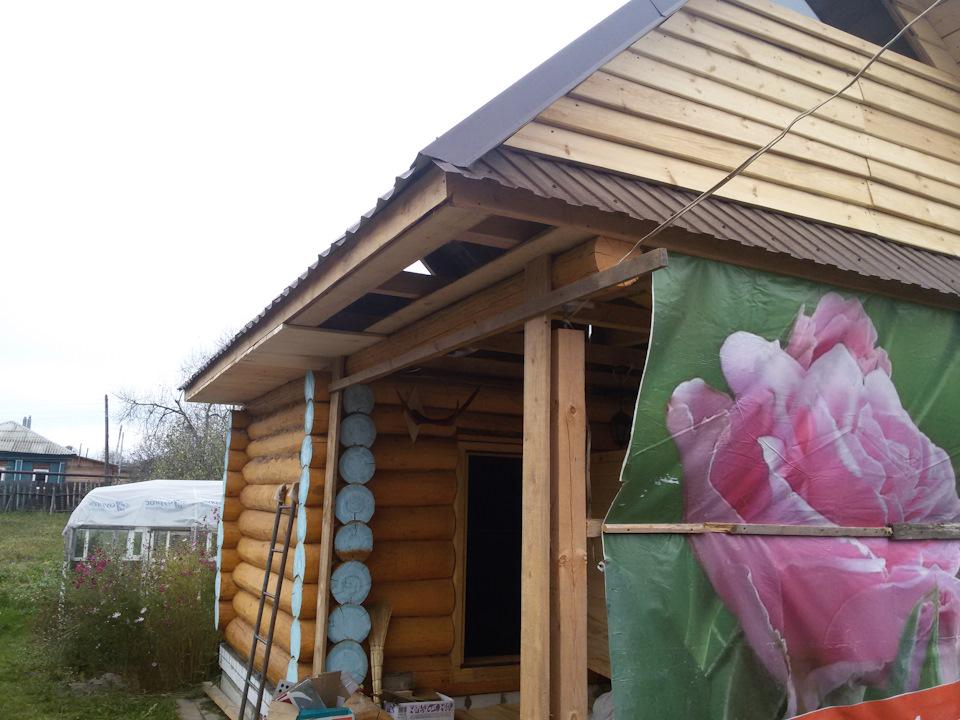 строительство бани фронтоны