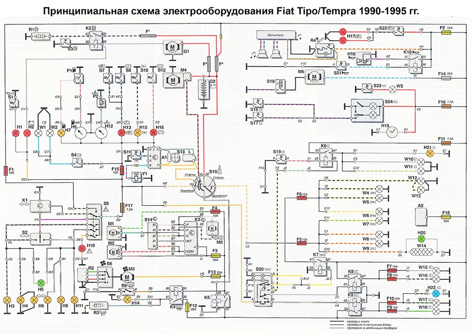 nodes for memory 6 schematic diagram of fiat tipo tempra rh drive2 com fiat tipo wiring diagram Fiat Farm Tractor Wiring Diagram