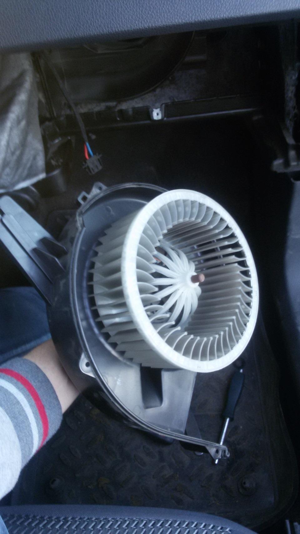 как почистить вентилятор в фольксваген поло седан