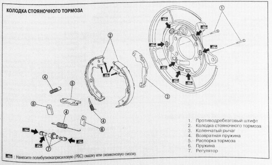 квашеной схема стояночного тормоза ланцер 6 93 года очень
