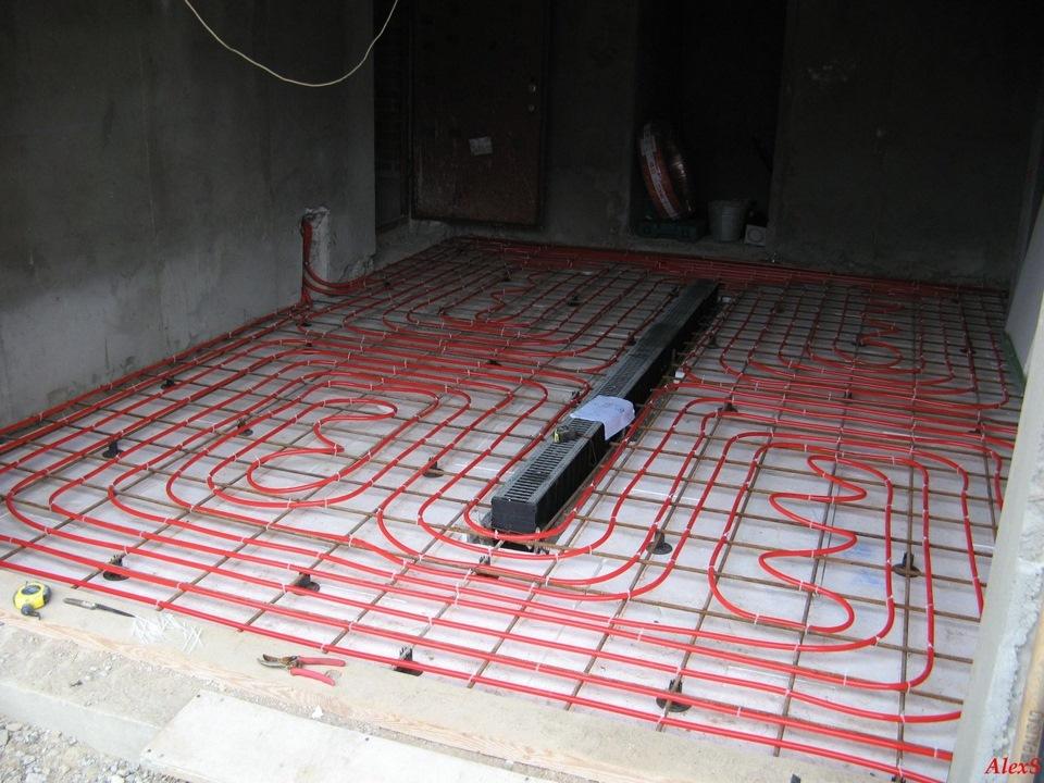 Теплый пол для гаража своими руками