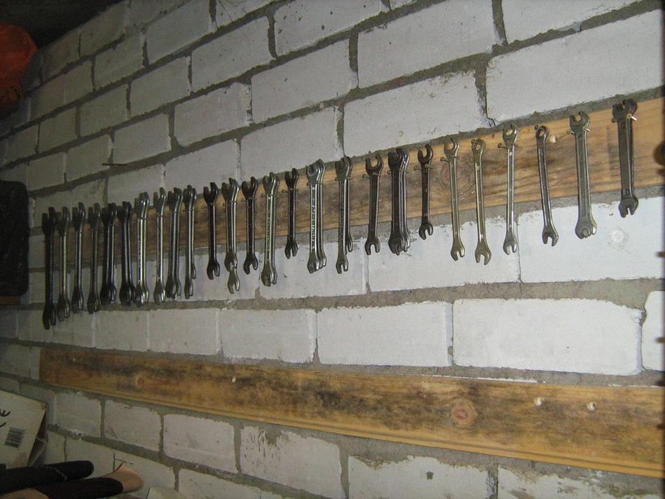 Хранение гаечных ключей в гараже своими руками