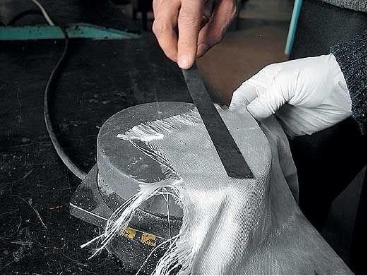 Ремонт автомобиля стеклотканью своими руками