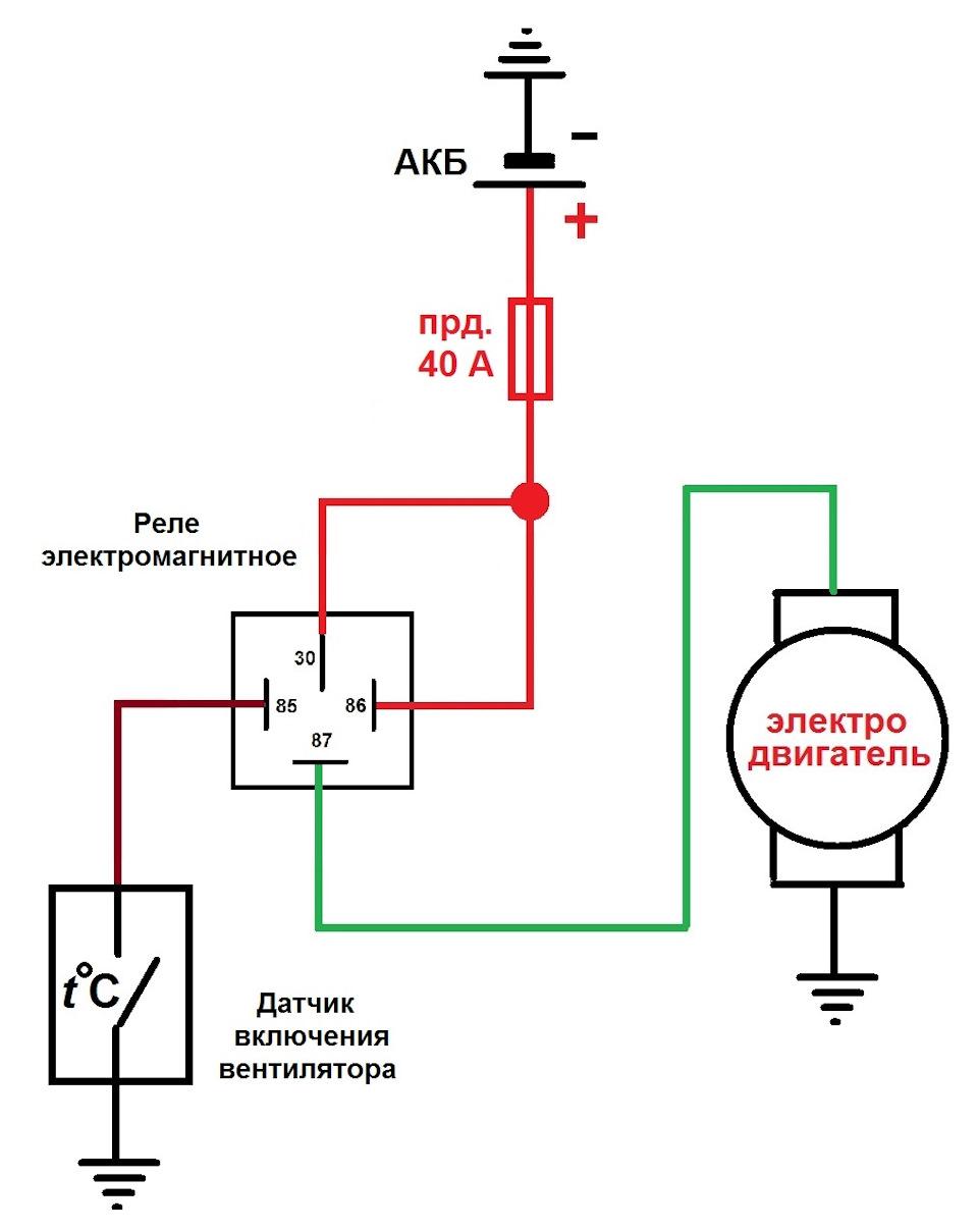 подключить муфту вентилятора на змз 406 схема