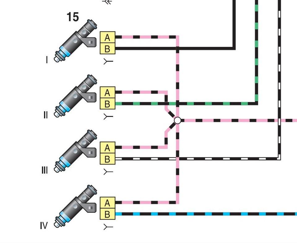 подключение форсунка ламборджини схема